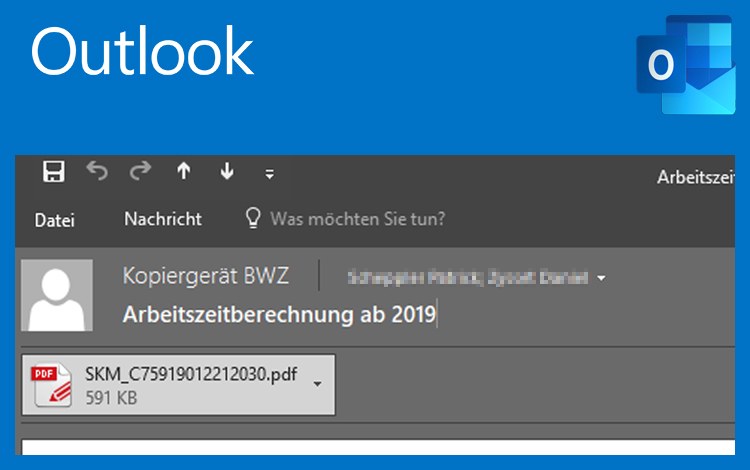 Outlook 2016 Betreff ändern